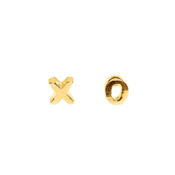 xo stud earrings gold