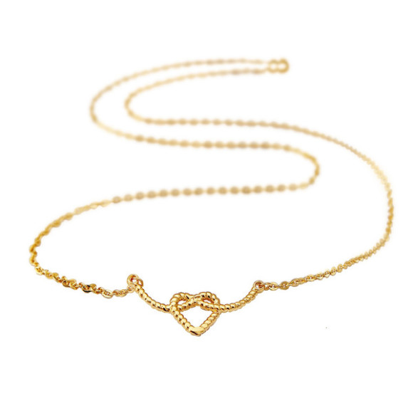 heart rope necklace