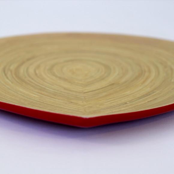 Raindrop Platter Red