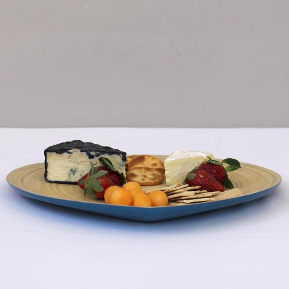 Raindrop Platter Blue