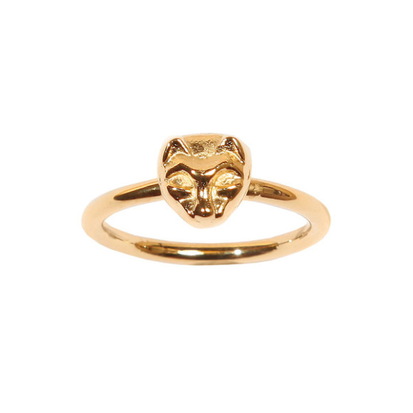 cat ring 14k gold