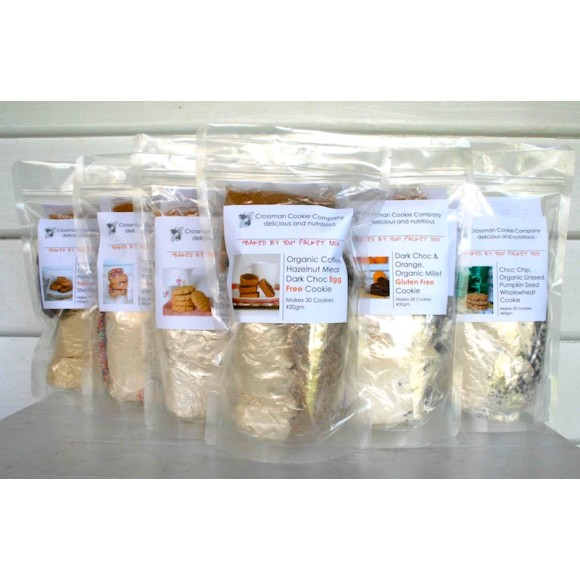 The cookie mix bags.