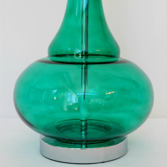 Dream Glass Lamp Base Green Detail