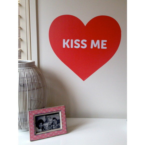 Kiss me decal