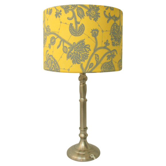Yellow lampshade