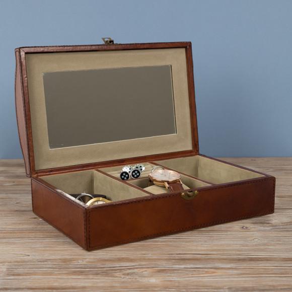 Ladies leather jewellery box