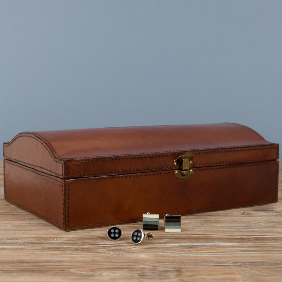 Ginger Rose leather jewellery box