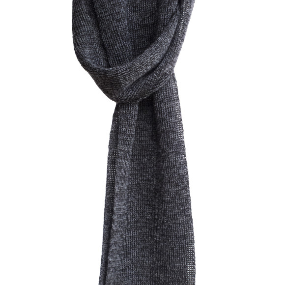 charcoal wool scarf