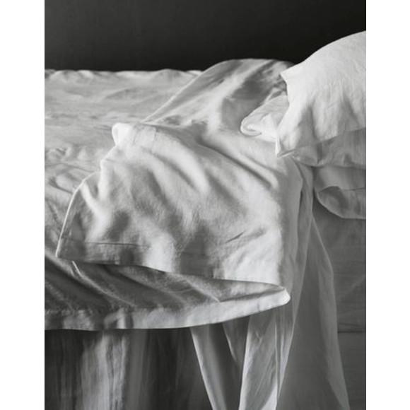 Wht Linen Quilt set