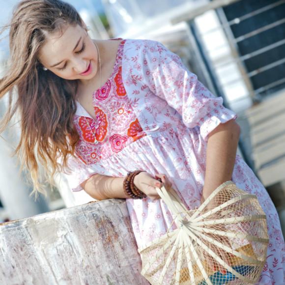 Coral Maya Dress