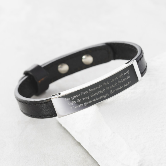 Black with Standard Font