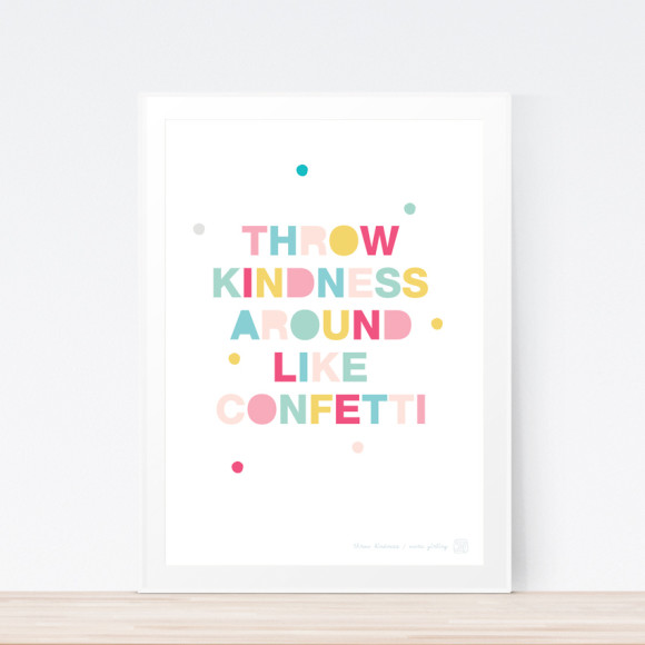 Throw Kindness Art Print (Framed)