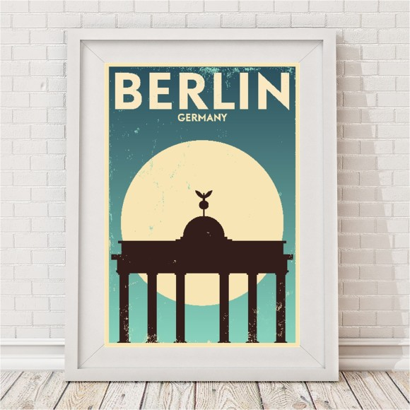 Vintage city print berlin hardtofind