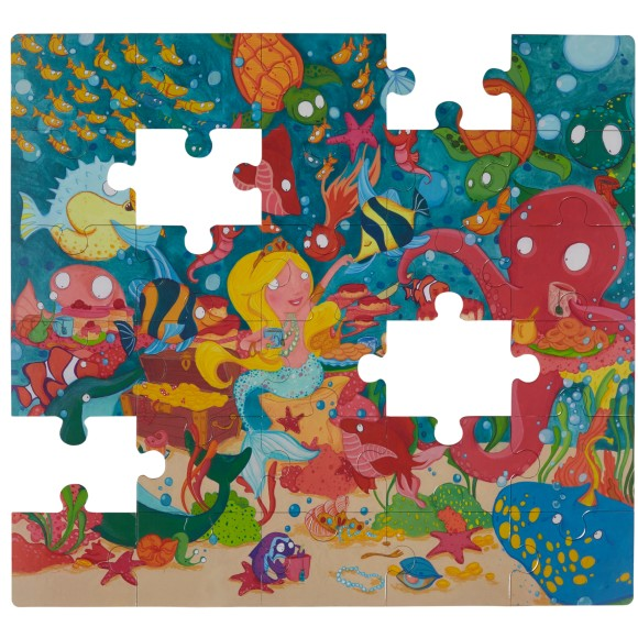 mermaid floor puzzle glottogon