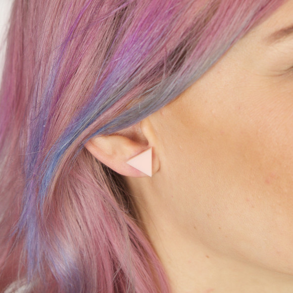 Triangle Earrings - Blush Pink