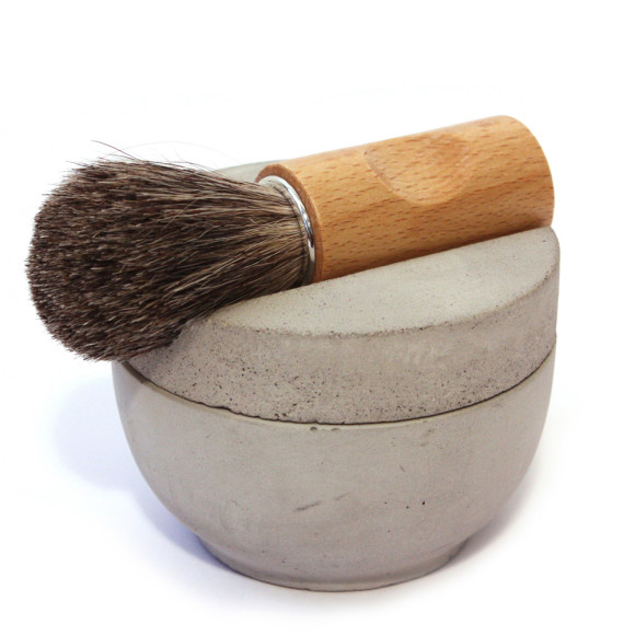 Grey concrete shaving set