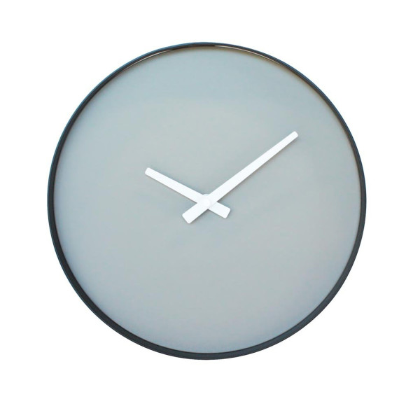 Grey black clock
