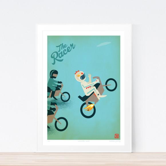 Racer Motorbike Art Print (Framed)