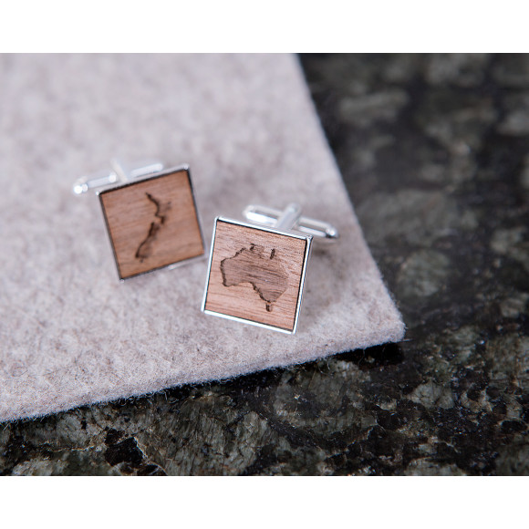 Square Map Cufflinks