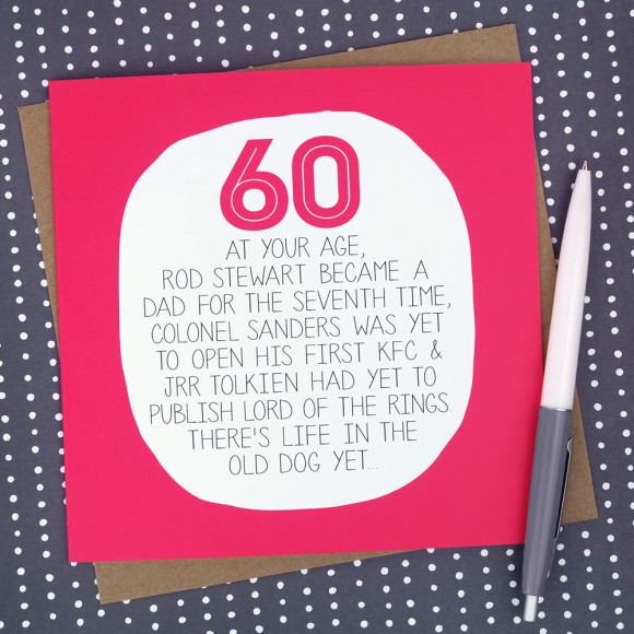 60th birthday card