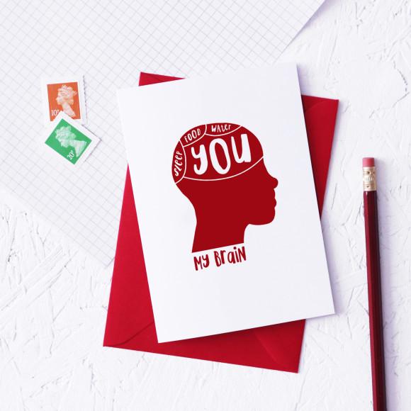 Funny Phrenology Valentine Card