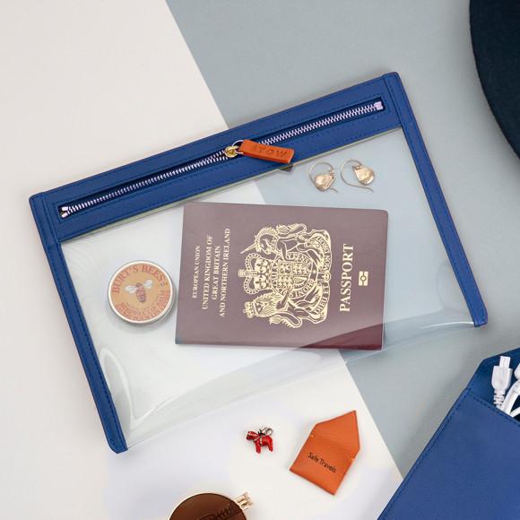 Blue Travel Essentials Organiser