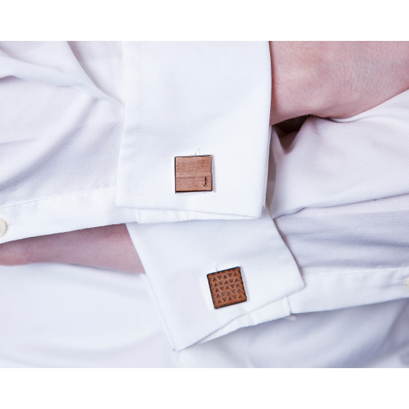 Square Initial and Geometric Cufflinks