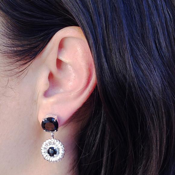 Daisy Drop Earrings model