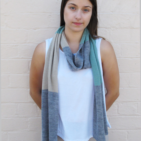 Sage knitted scarf