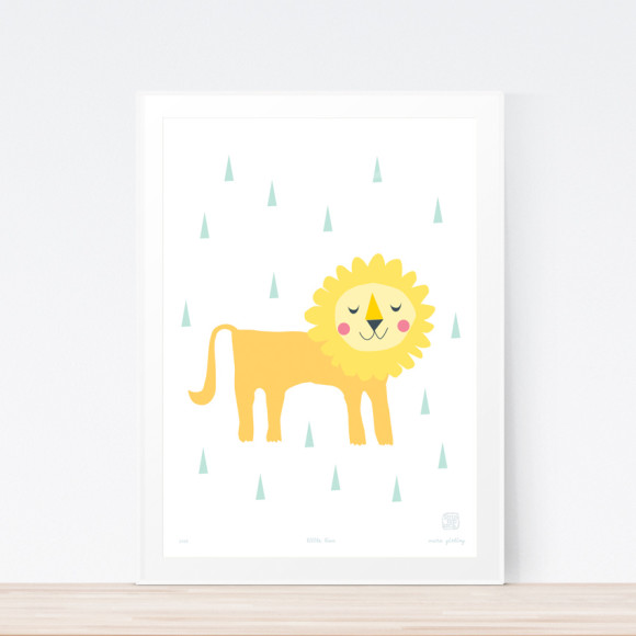 Little Lion Art Print Framed