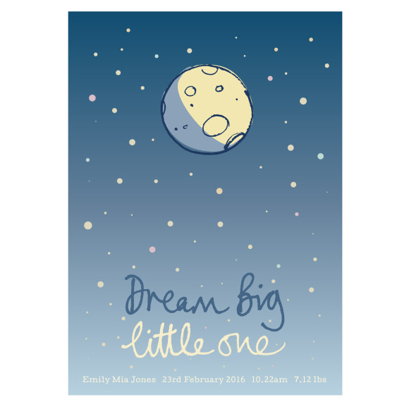 'Dream big little one' Art Print