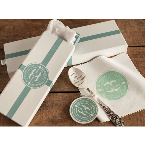 Featured:  Large and small gift box and silver polish cloth