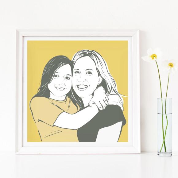 Family portrait - plain background