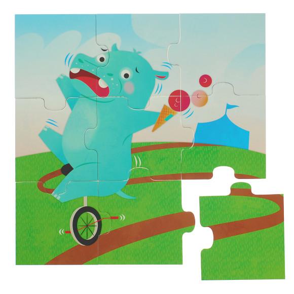 glottogon trio 9 piece puzzle