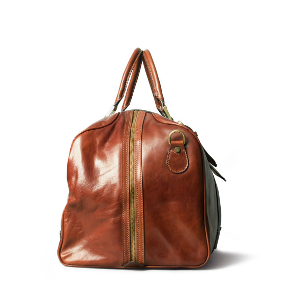 Tan travel bag