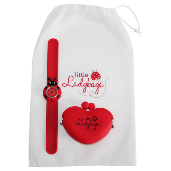 Ladybug Watch & Purse - Red