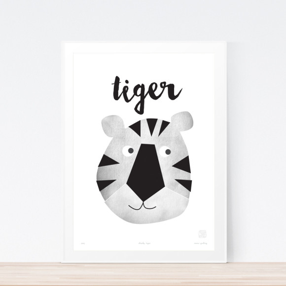 Tiger Art Print (Framed)