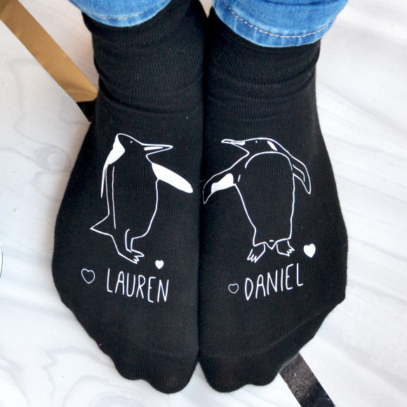 Personalised Penguin Socks