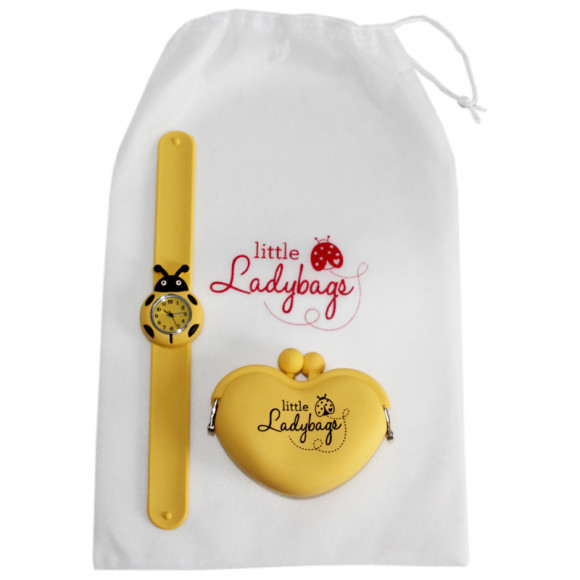 Ladybug Watch & Purse - Yellow