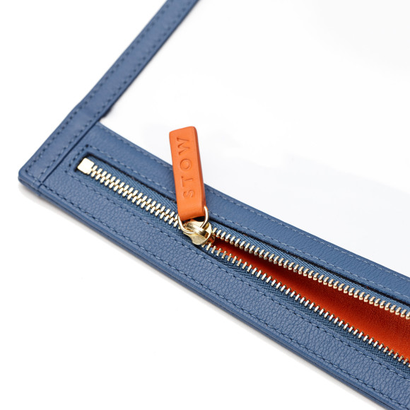 Blue With Orange Lining