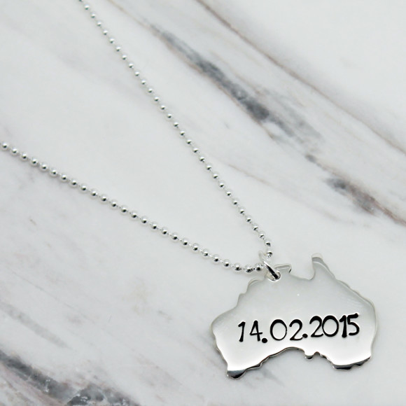 Personalised Australia Necklace