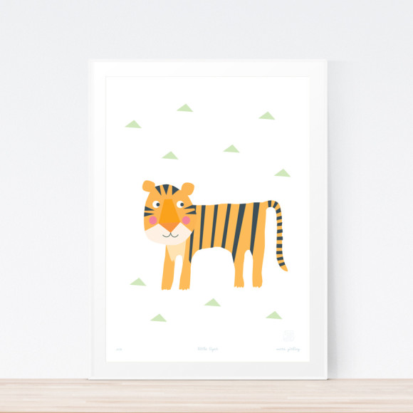 Little Tiger Art Print (Framed)