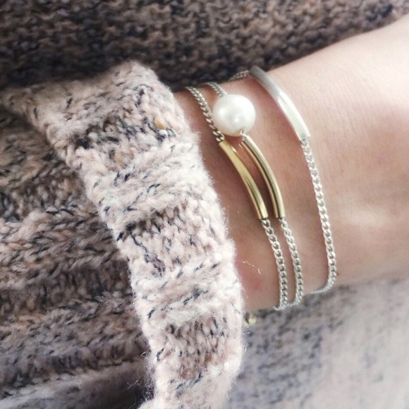 Gold fill fine tube bracelet