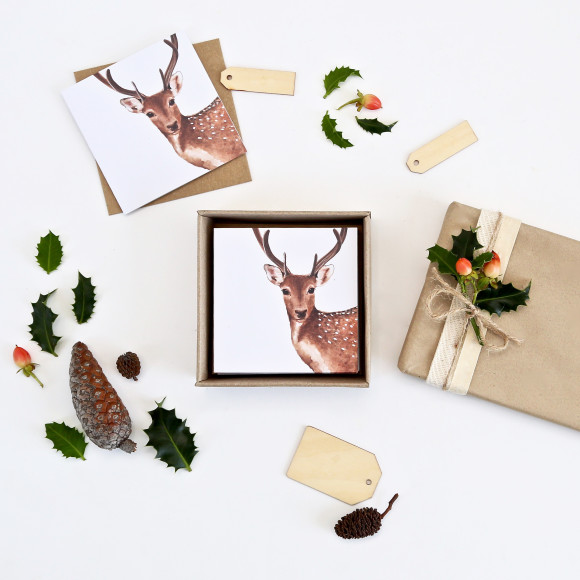 Christmas Reindeer Greeting Card Box Set