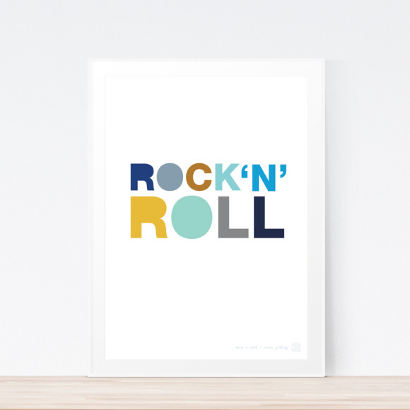 Rock N Roll (Framed)