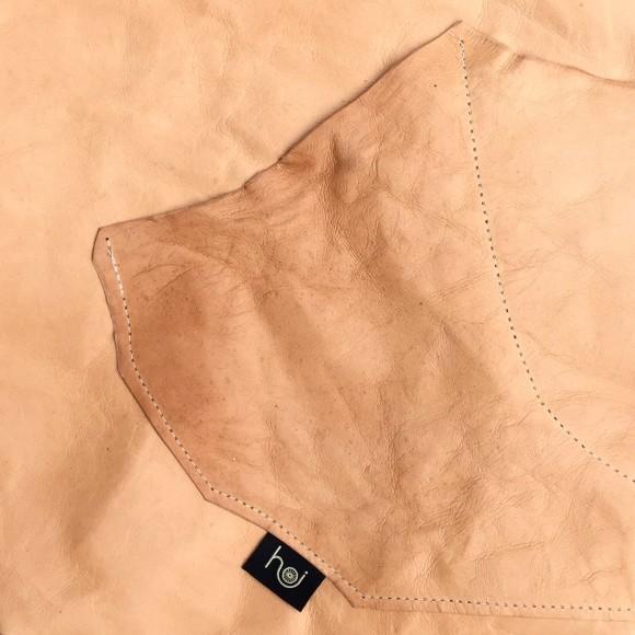 Pocket detail showing raw edge