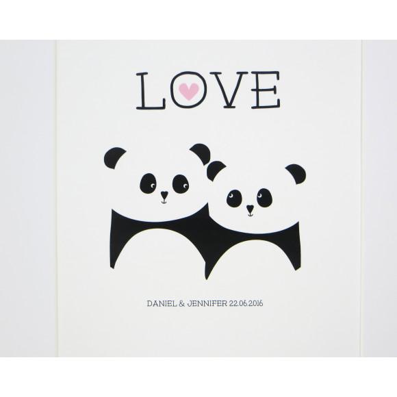 Panda bear love print