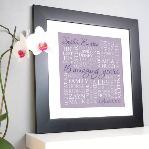 chunky frame lilac print