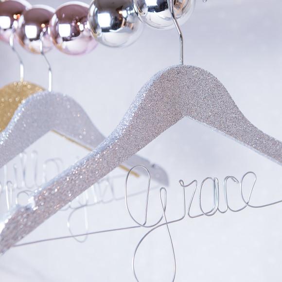 Silver Glitter Hanger