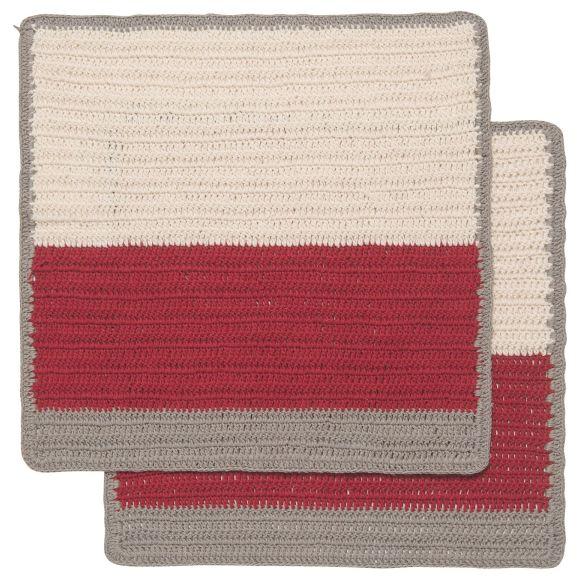Sasha Crochet Dishcloths Cardinal